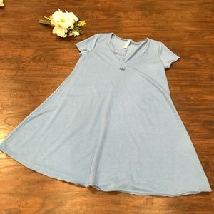 Altar'd State | dusty blue swing tee shirt dress